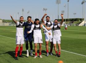 برگزاری تمرین شاداب ملی پوشان در قطر+تصاویر
