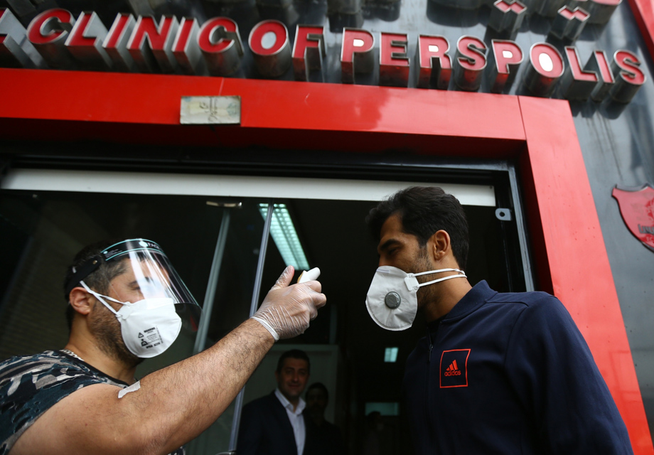 گزارش تصویری: آزمایش کرونا بازیکنان پرسپولیس