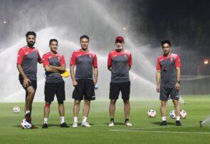 تمرین یکشنبه ۳۰ شهریور پرسپولیس در قطر
