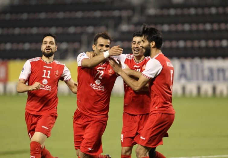 بازی یک چهارم نهایی لیگ قهرمانان: پرسپولیس ۲-۰ پاختاکور