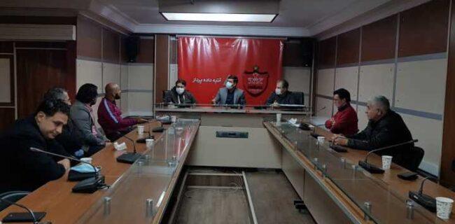 جلسه شکوری با مربیان و مدیران آکادمی پرسپولیس