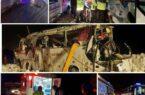 واژگونی اتوبوس تیم محسن بنگر؛ ۱ کشته و ۱۹ مصدوم در حادثه جاده چالوس