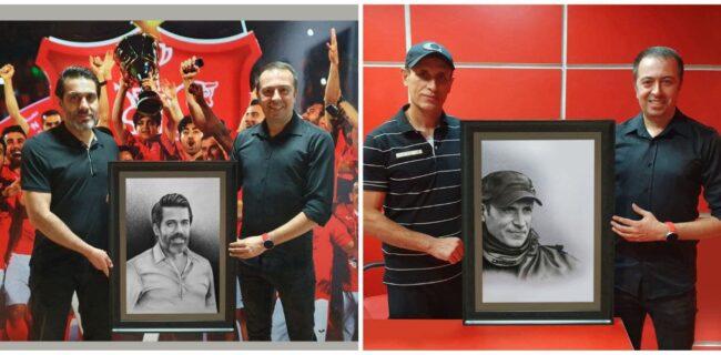 هدیه جالب مدیر باشگاه به گلمحمدی و پیروانی +عکس