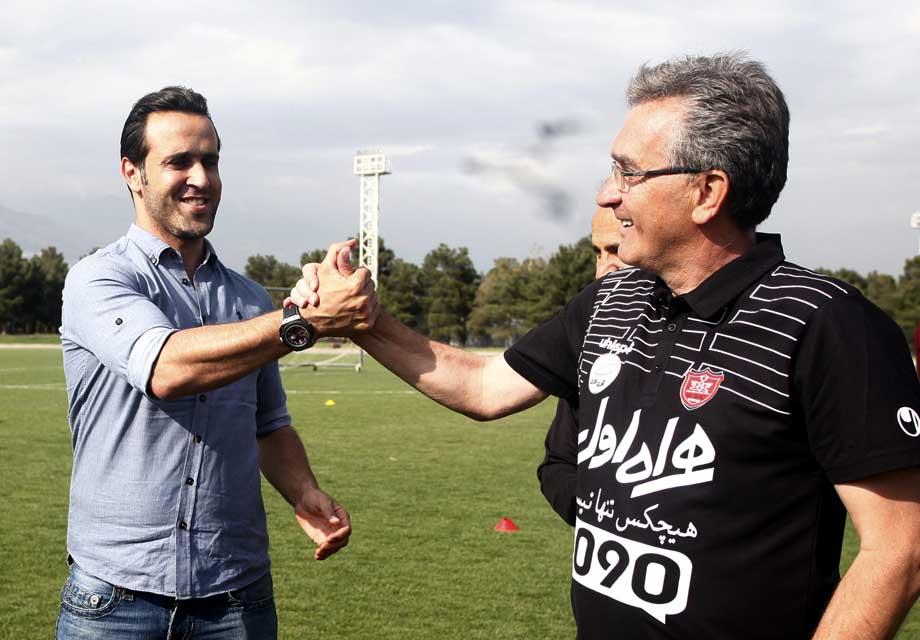 علی کریمی در اردوی پرسپولیس حاضر شد+ عکس