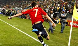 ویا بهترین بازیکن دیدار اسپانیا و هندوراس شد