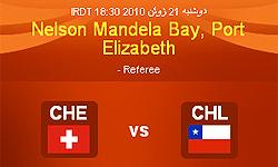 تساوی شیلی و سوئیس در پایان نیمه اول