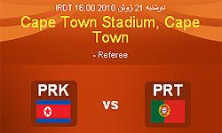 پیروزی پرتغال برابر کره شمالی در نیمه اول
