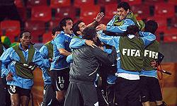 اروگوئه با غلبه بر غنا حریف هلند شد
