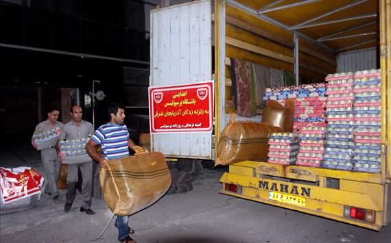 عکس خبری/ ارسال محموله پرسپولیس برای کمک به زلزله زده ها