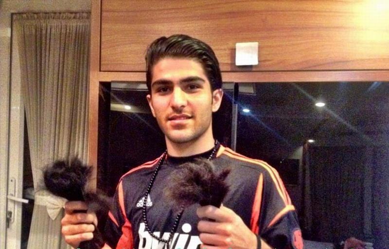 امیر عابدزاده موهای خود را برای کمک به خیریه زد! + عکس
