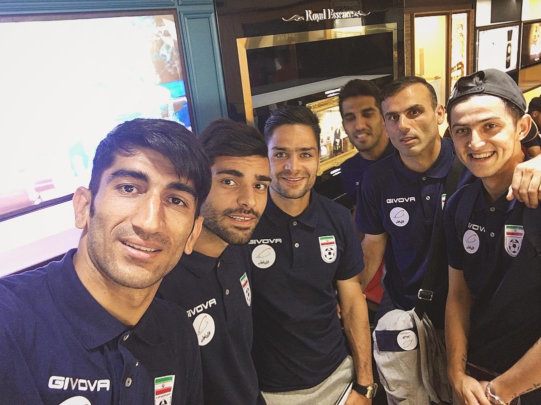 عکس جالب طارمی از اردوی تیم ملی/ پرسپولیسی های سابق، فعلی و آینده!