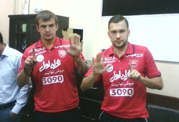 قرارداد ۲ بازیکن اوکراینی پرسپولیس ثبت شد + عکس