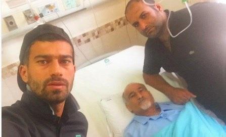 رضاییان به جای باشگاه پرسپولیس به بیمارستان رفت+عکس