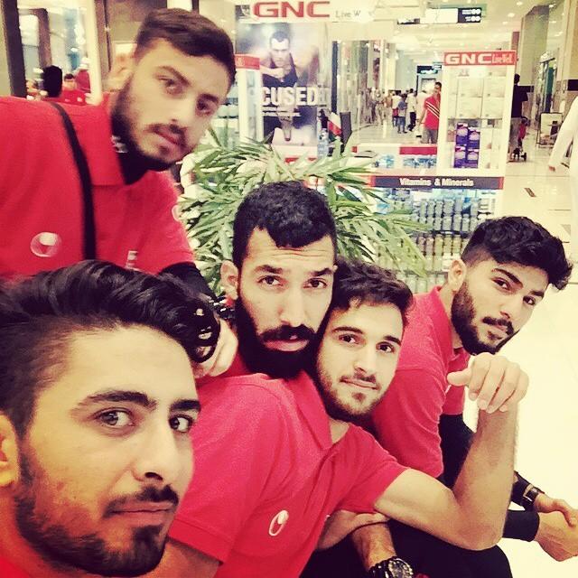 عکس: میلاد کمندانی در اردوی تیم امید